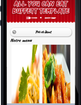Page menu du site restaurant buffet