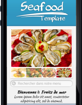 Page de contact site clé mobile en main Restaurant Fruits de mer