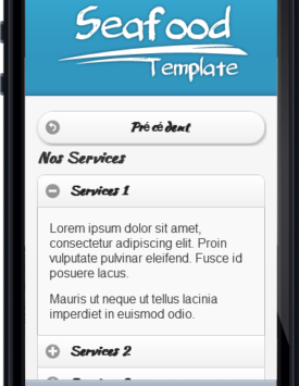 Page services Template Restaurant fruitsdemer Mobile